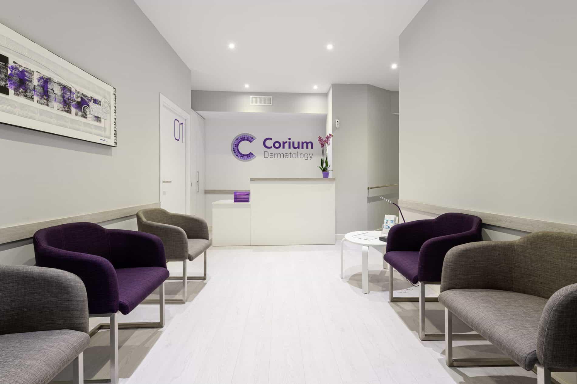 sala de espera Corium Dermatology