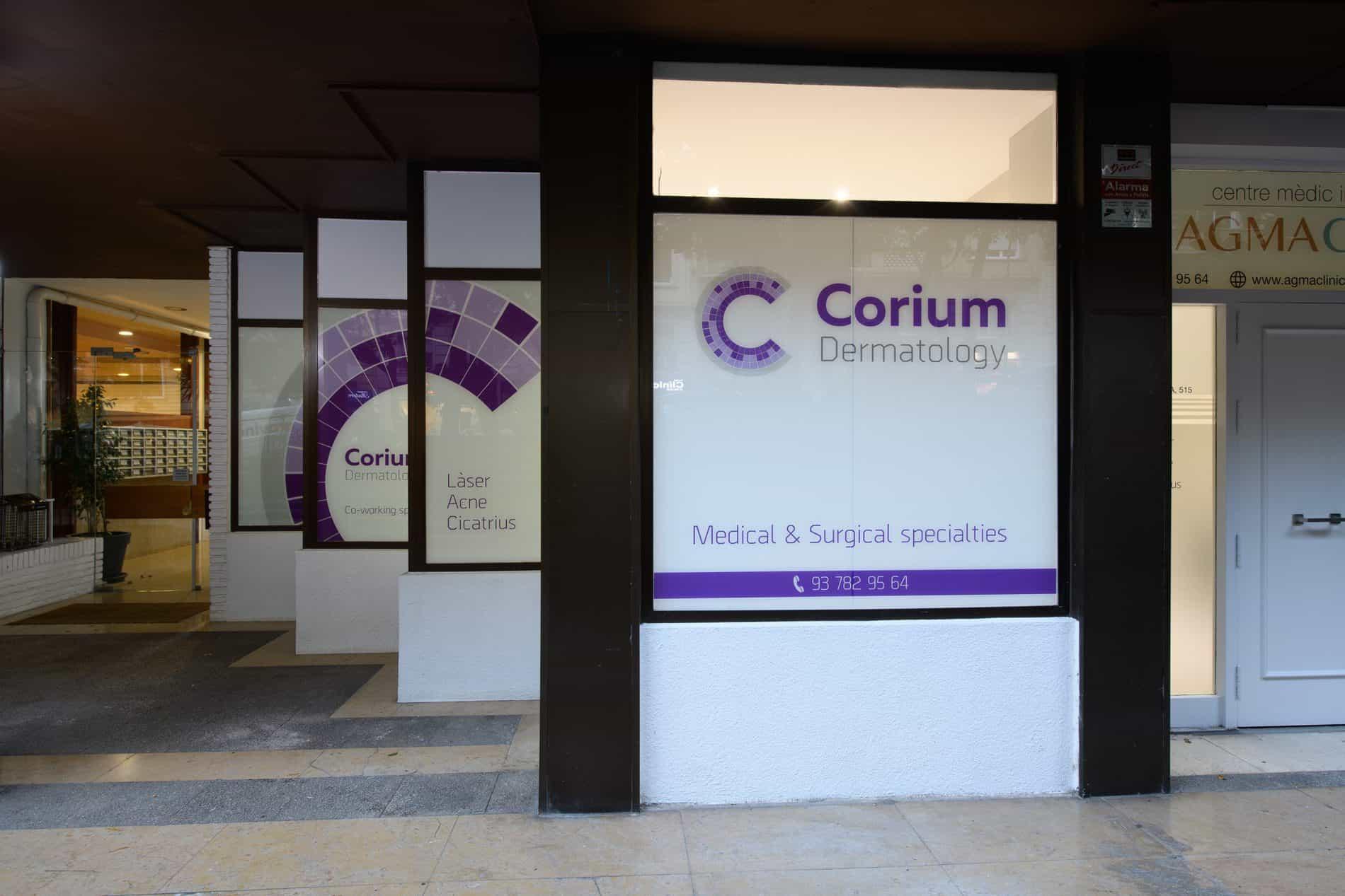 exterior clínica Corium Dermatology